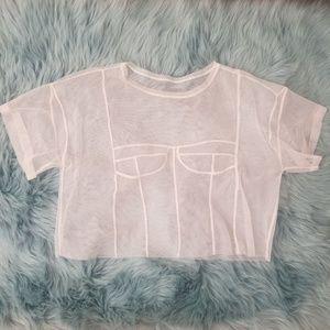 Zara mesh crop top